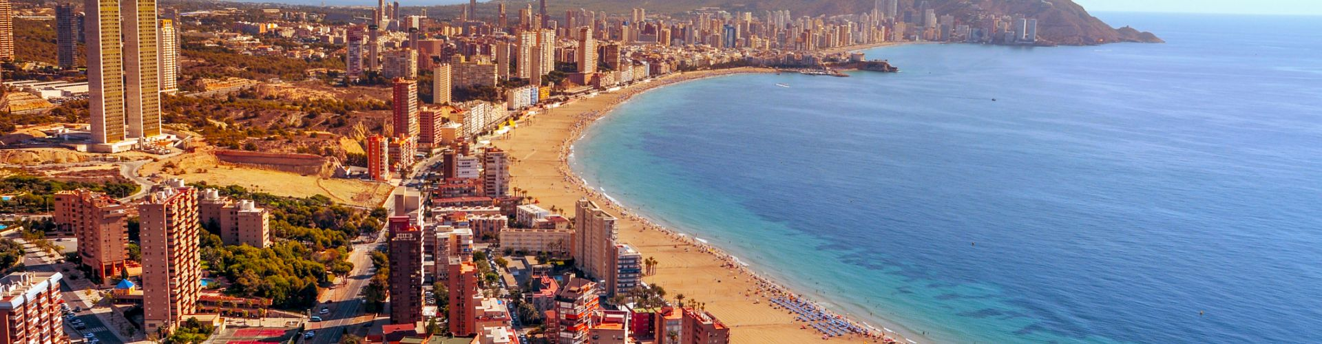 Aerial View Of Benidorm Spain 476957352 2128x1413